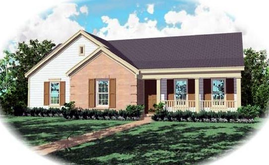 Ranch House Plan 46401 Elevation