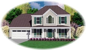 Country House Plan 46402 with 3 Beds, 3 Baths, 2 Car Garage Elevation