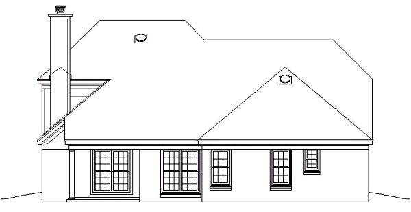 Country House Plan 46402 Rear Elevation
