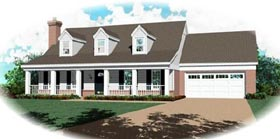 Country House Plan 46403 with 3 Beds, 3 Baths, 2 Car Garage Elevation