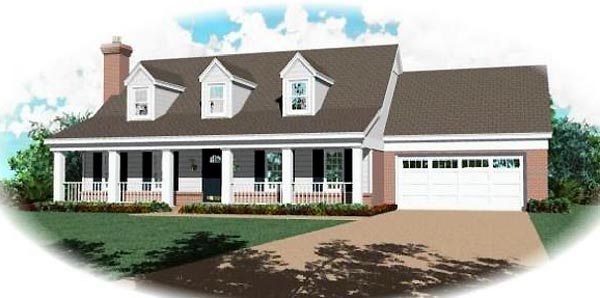 Country House Plan 46403 Elevation