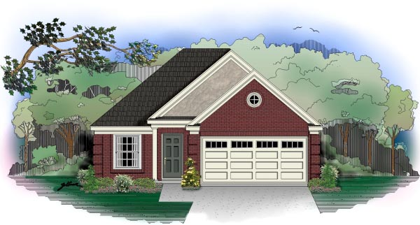 European House Plan 46406 Elevation