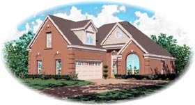 Country House Plan 46408 with 4 Beds, 4 Baths, 2 Car Garage Elevation