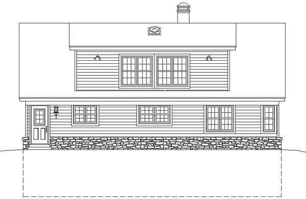 Contemporary Rear Elevation of Plan 46410