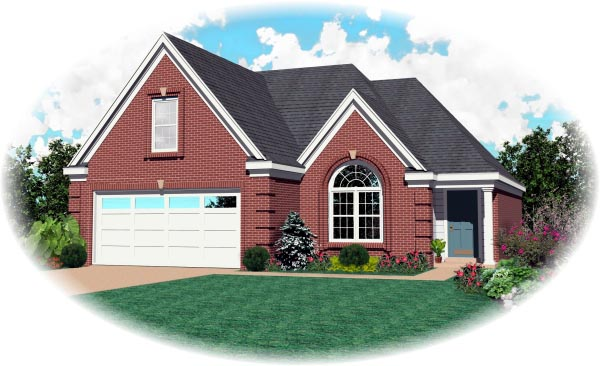Traditional House Plan 46413 Elevation