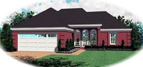 Ranch House Plan 46414 Elevation