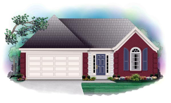 Traditional House Plan 46415 Elevation