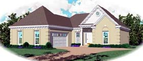 Ranch House Plan 46417 with 3 Beds, 2 Baths, 2 Car Garage Elevation
