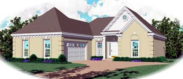 Ranch House Plan 46417 Elevation