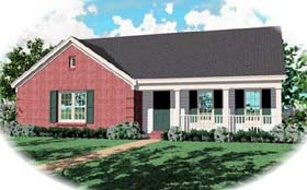 Ranch House Plan 46419 Elevation