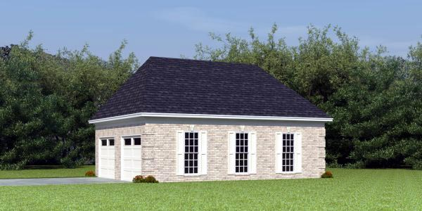 Traditional Garage Plan 46423 Elevation