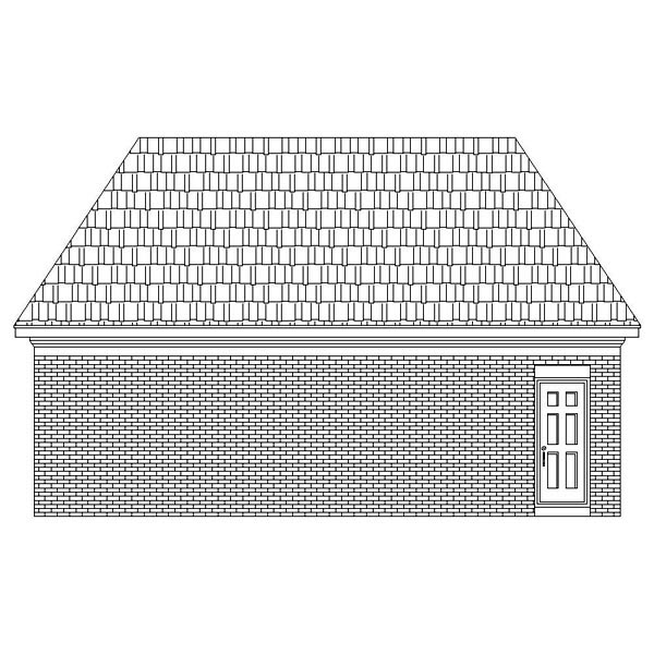 Traditional Rear Elevation of Plan 46423
