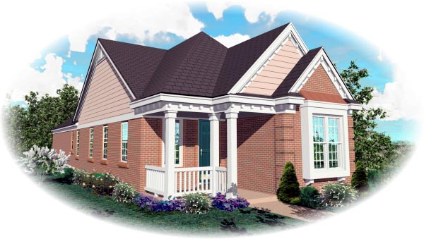 Country House Plan 46426 Elevation