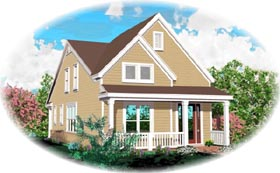 Country House Plan 46427 with 3 Beds, 3 Baths, 3 Car Garage Elevation