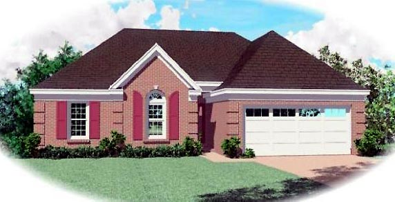 Traditional House Plan 46429 Elevation