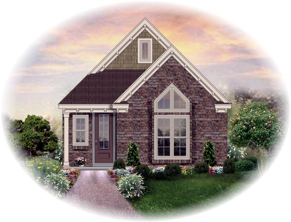 House Plan 46432 Elevation
