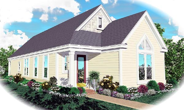 Traditional House Plan 46433 Elevation