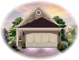 House Plan 46434 Elevation