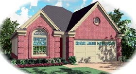 Ranch House Plan 46437 with 3 Beds, 2 Baths, 2 Car Garage Elevation