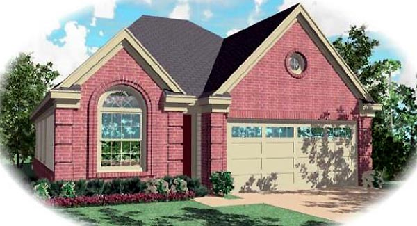 Ranch House Plan 46437 Elevation