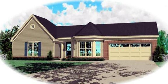 Country House Plan 46438 Elevation