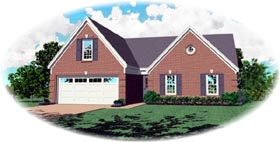 Traditional House Plan 46441 Elevation
