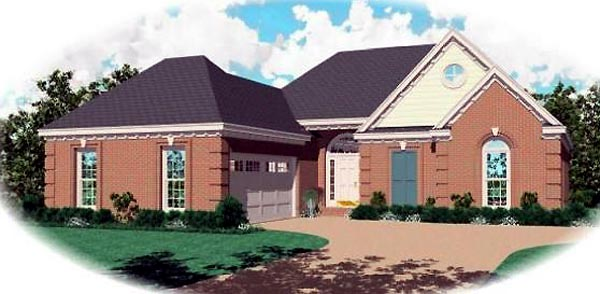 Ranch House Plan 46442 Elevation