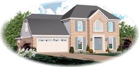 European Traditional House Plan 46443 Elevation