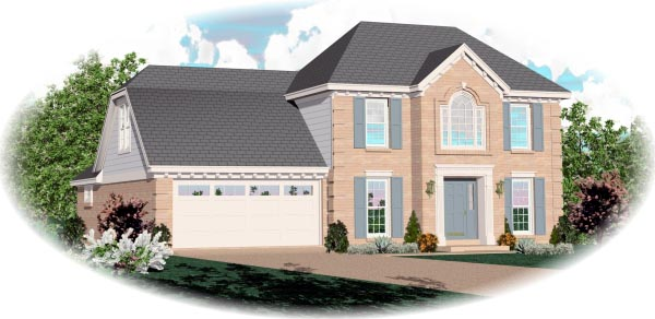 European Traditional House Plan 46443 Elevation