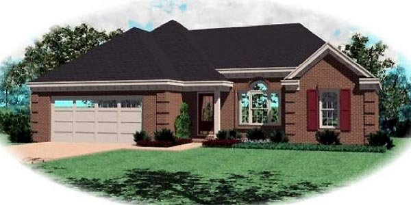 House Plan 46445 Elevation
