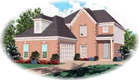 European House Plan 46449 Elevation