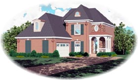 Victorian House Plan 46450 with 3 Beds, 3 Baths, 2 Car Garage Elevation