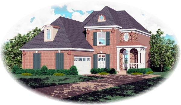 Victorian House Plan 46450 Elevation