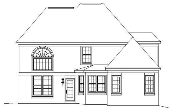 Victorian House Plan 46451 Rear Elevation