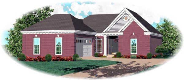 Traditional House Plan 46455 Elevation