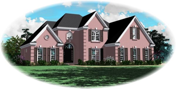 European House Plan 46457 Elevation