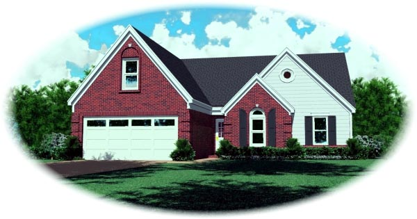 Traditional House Plan 46459 Elevation