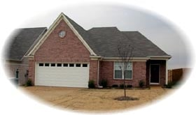 Traditional House Plan 46460 with 3 Beds, 2 Baths, 2 Car Garage Elevation