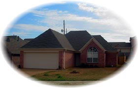 House Plan 46461 | Style Plan with 1427 Sq Ft, 3 Bedrooms, 2 Bathrooms, 2 Car Garage Elevation