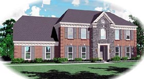 Traditional House Plan 46463 Elevation