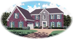Colonial House Plan 46465 Elevation