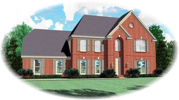 European House Plan 46466 Elevation