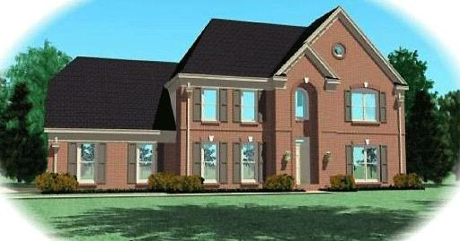 Traditional House Plan 46467 with 4 Beds, 4 Baths, 2 Car Garage Elevation