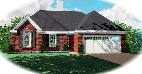 Traditional House Plan 46471 Elevation