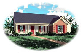 Ranch House Plan 46473 Elevation