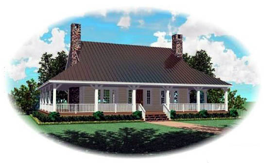 Country House Plan 46476 Elevation