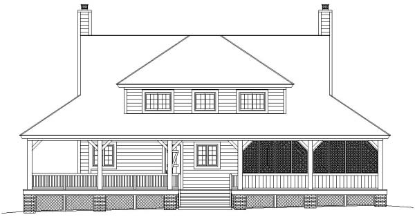 Country House Plan 46476 Rear Elevation