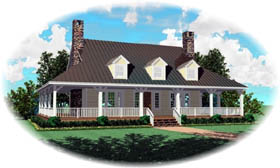 House Plan 46477 | Country Style Plan with 2200 Sq Ft, 3 Bedrooms, 3 Bathrooms Elevation