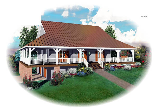 Country House Plan 46479 Elevation