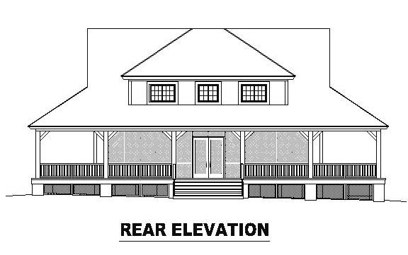 Country House Plan 46479 Rear Elevation
